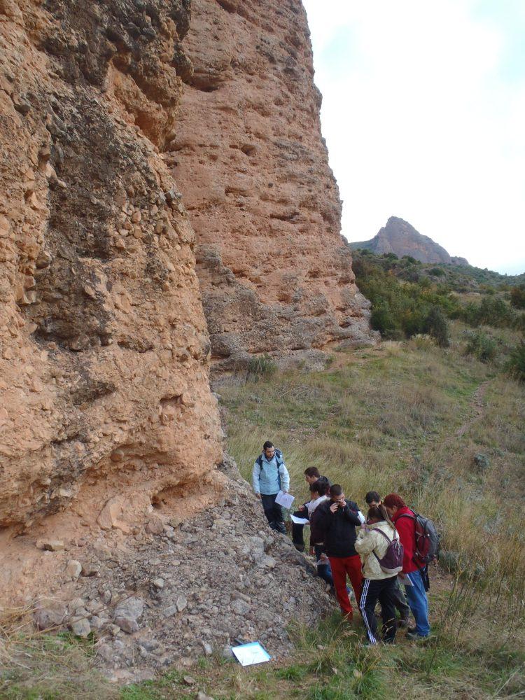 Fotos Camino del Cielo, Riglos, con alumnos de IES Ramon y Cajal (1/6)